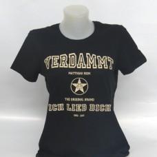 25 Jahre Jubiläums-Girlshirt, schwarz