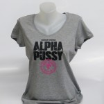 Girl-Shirt grau ALPHAPUSSY, V-Neck