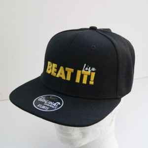 "Snapback Cap ""BEAT IT! Live"", bestickt"
