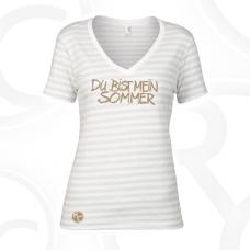 """T-Shirt, V-Neck """"Du bist mein Sommer"""""""