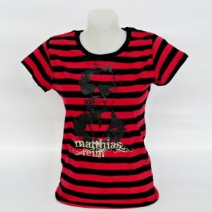Girl-Shirt rot-schwarz gestreift