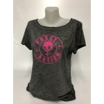 Pussynation Damen Slub-T-Shirt Grau