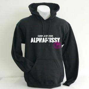 Hoodie-Sweater ALPHAPUSSY, schwarz, unisex