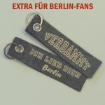 "Schlüsselanhänger Filz ""Verdammt Ich Lieb Dich Berlin"""