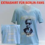 """T-Shirt V-Neck """"Verdammt ich lieb dich Berlin"""" mit Tourdaten 2017"""