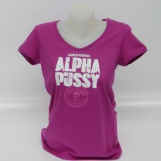Girl-Shirt pink ALPHAPUSSY, V-Neck