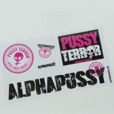 Aufkleber Set ALPHAPUSSY/PUSSY TERROR
