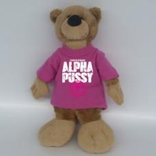 Bär ALPHAPUSSY, pinkes Shirt