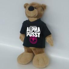 Bär ALPHAPUSSY, schwarzes Shirt
